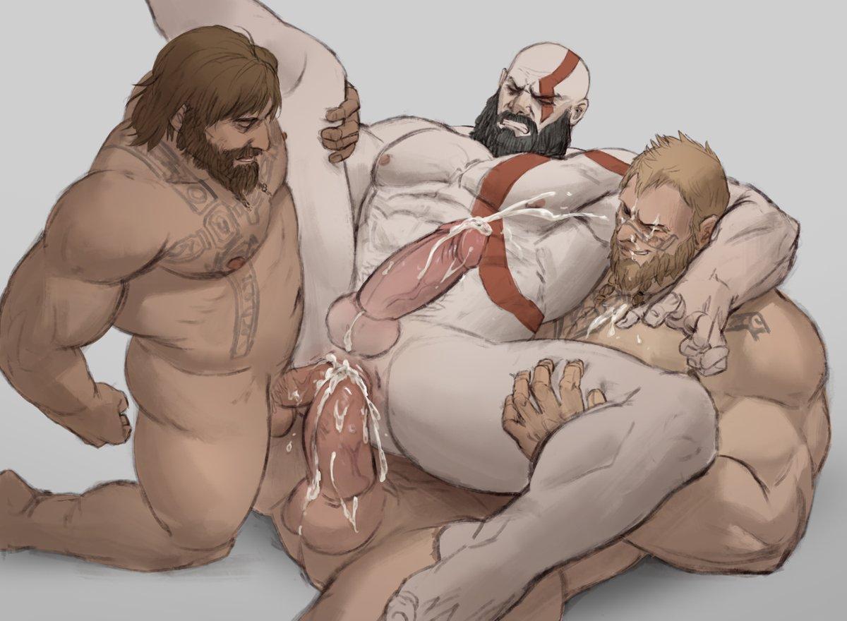 4 sex war god of Deep throat blow job gif