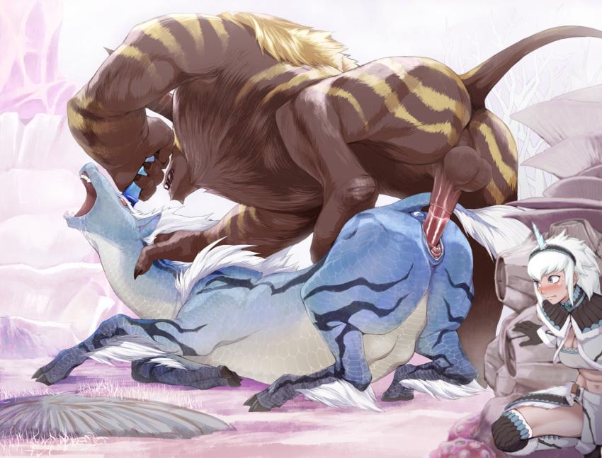 armor monster world female odogaron hunter Danbooru darling in the franxx