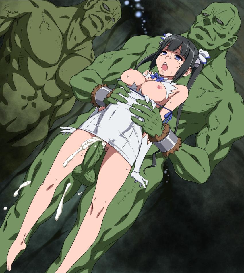 dungeon deai darou ni machigatteiru no wa wo motomeru Buta no gotoki sanzoku ni torawarete shojo o ubawareru kyonyuu himekishi